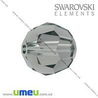 Бусина Swarovski 5000 Black Diamond, 8 мм, Граненая круглая, 1 шт. (BUS-003275)
