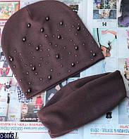 Женский комплект(шапка+комплект)