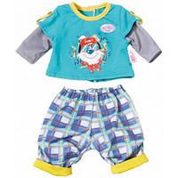 Набор одежды для куклы Baby Born - Малыш на прогулке (клетчатые штаны), Zapf