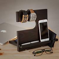 Подставка для телефона и аксессуаров из дерева  WB110