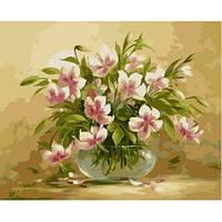Цветочная нежность, серия Букет, рисование по номерам, 40 х 50 см, Идейка