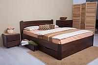 Ліжко Софія V з ящиками 200*140 бук Олімп, фото 1