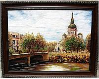 Виды Харькова, картина Благовещенский собор из янтаря
