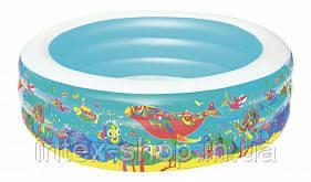 """51122 BW Дитячий круглий басейн """"Підводний світ"""", 196х53 см, 700 л"""