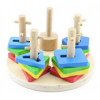 Логический круг, Мир деревянных игрушек Д019