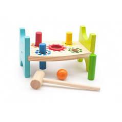 Стучалка Шарик и гвоздики, Мир деревянных игрушек Д369