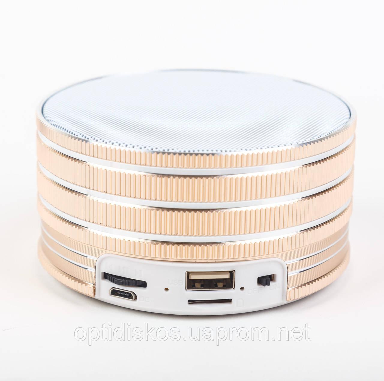 Bluetooth портативная колонка (USB, micro-SD), BO-B16, золотистая