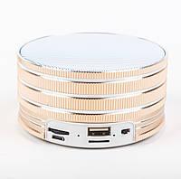 Bluetooth портативная колонка (USB, micro-SD), BO-B16, золотистая, фото 1