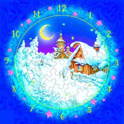 Часы Рождественская ночь, Сборная модель из картона, Умная бумага - Интернет-магазин детских товаров MultiCentr в Киеве