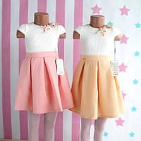 Двухцветное нарядное платье фактурная ткань  размер 5-6-7-8 лет