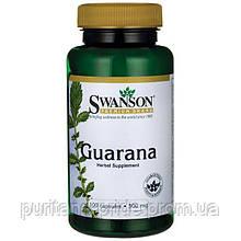 Гуарана Guarana Swanson  энергетик 500 мг 100 капс