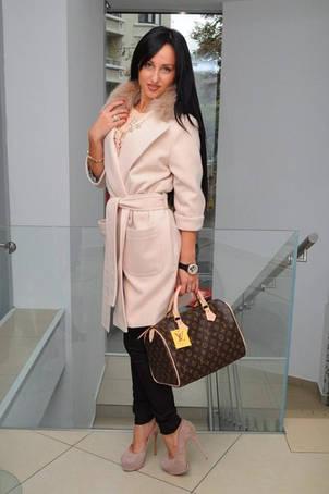 Женское пальто  Зима с натуральным мехом, фото 2