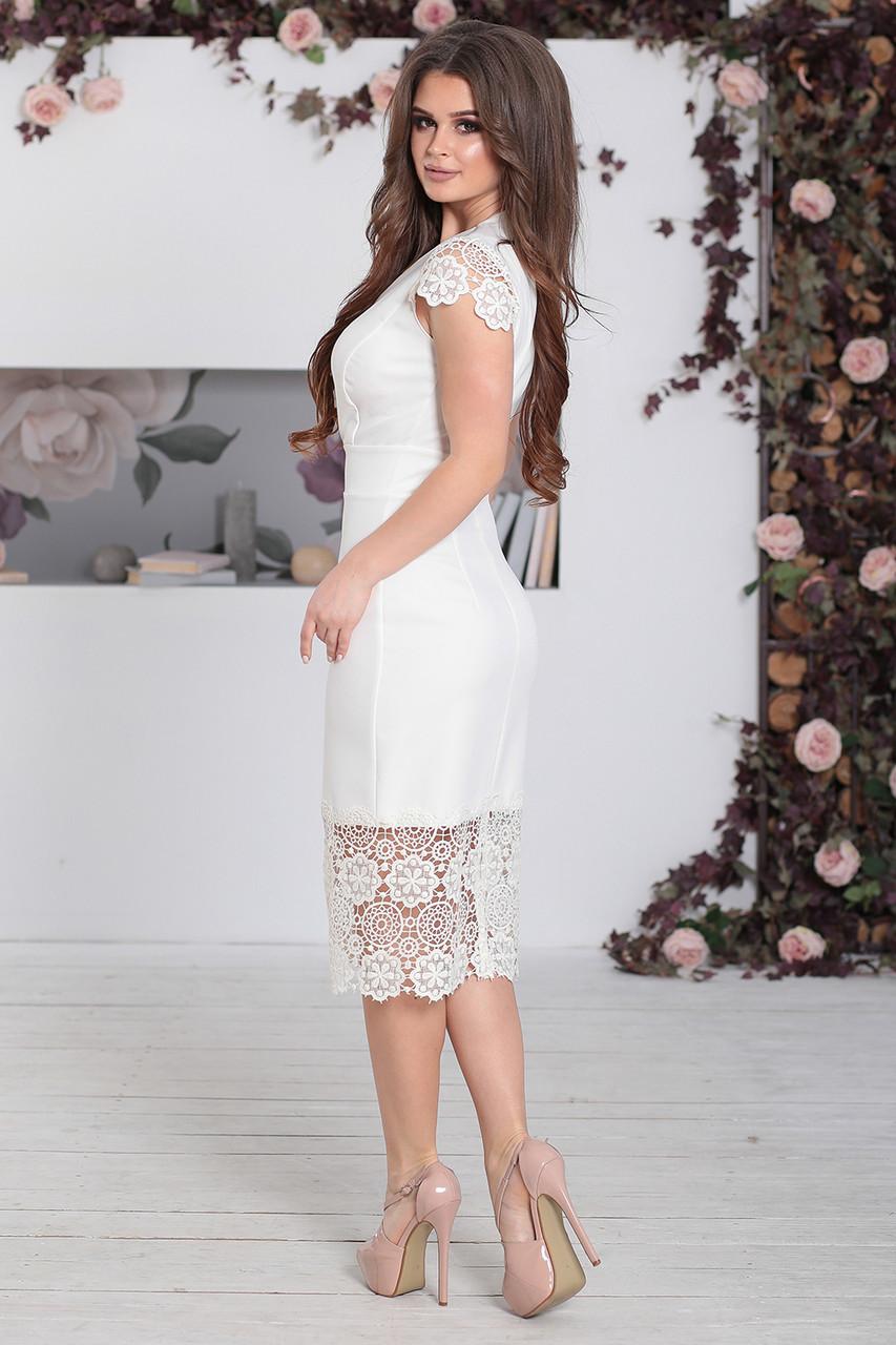 Платье нарядное Винетта белое