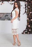 Платье нарядное Винетта белое, фото 1