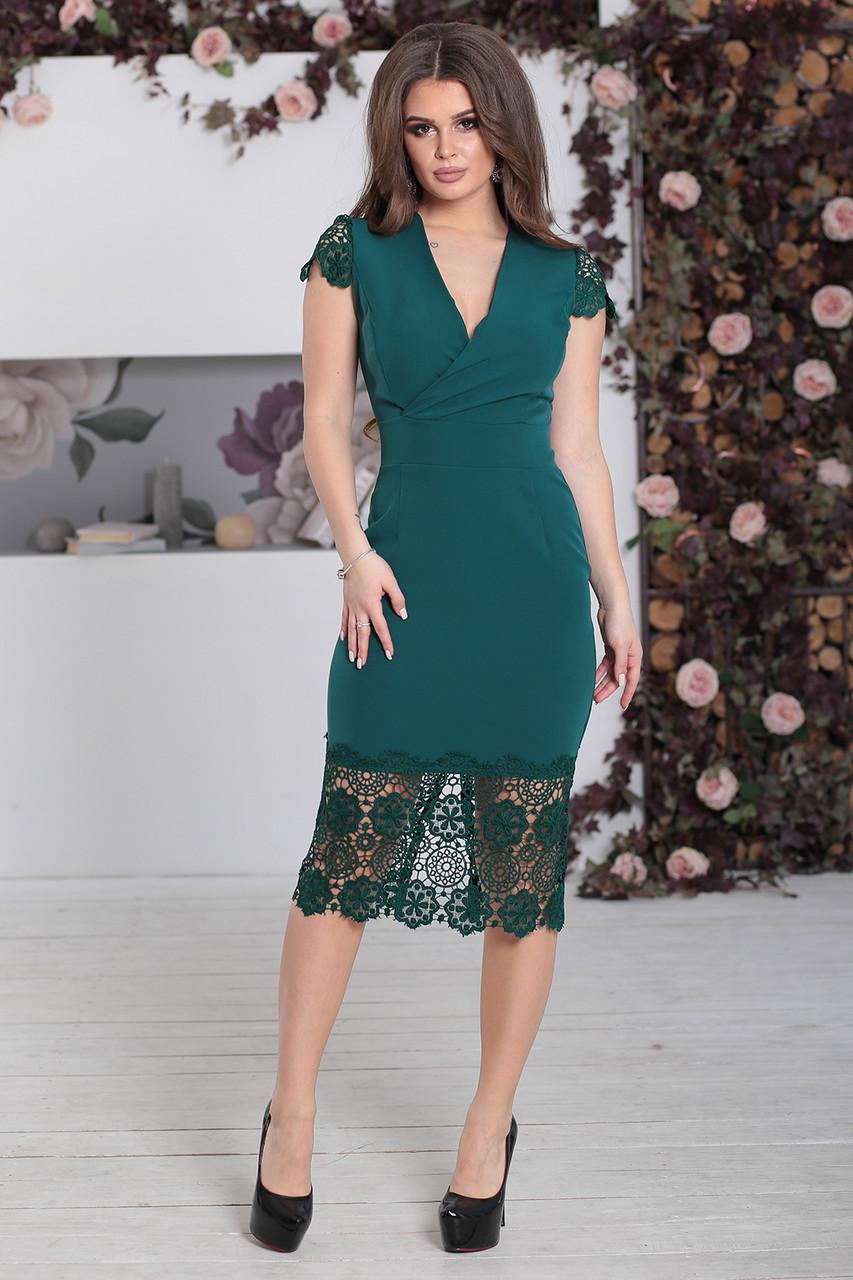 Платье нарядное Винетта зеленое