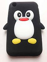 """Силиконовый чехол """"Пингвин"""" для iPhone 3/3s"""