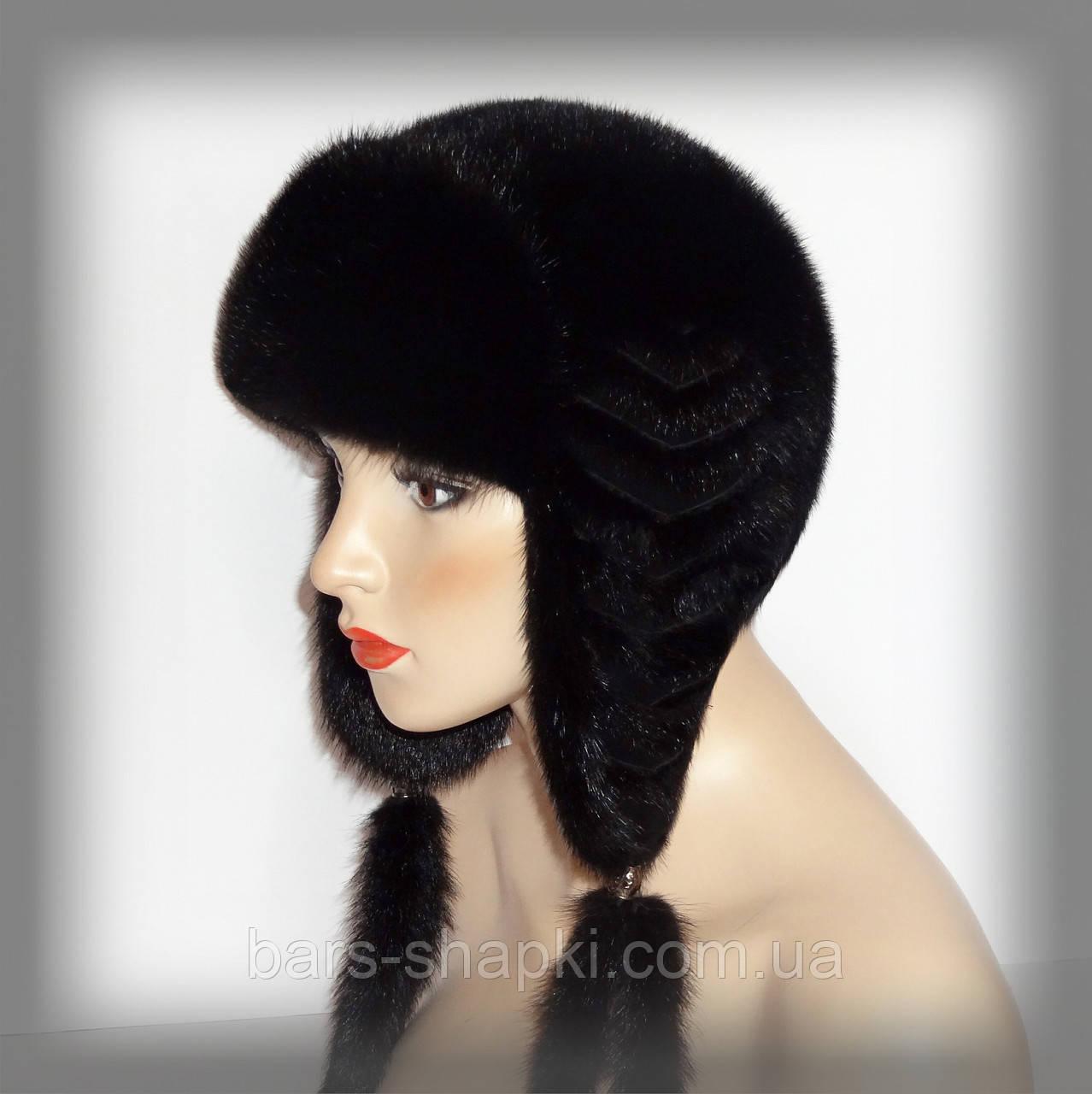 Шапка-ушанка женская из норки от интернет-магазина зимних головных уборов и  ... 6bb755f678595