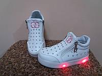 Ботинки деми- 25р-15.8 см  ВВТ светятся