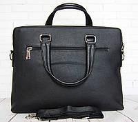 Мужская сумка-портфель под ноутбук. Сумка поло экокожа. Качественная сумка-портфель. Большая мужская сумка.
