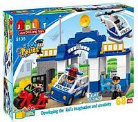 Конструктор JDLT 5135 Полицейский участок 68 деталей. Свет. Звук.