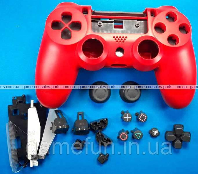 Корпус джойстика PS4 Dualshock 4 JDM-050, JDM-055 в зборі (Червоний) (Оригінал)