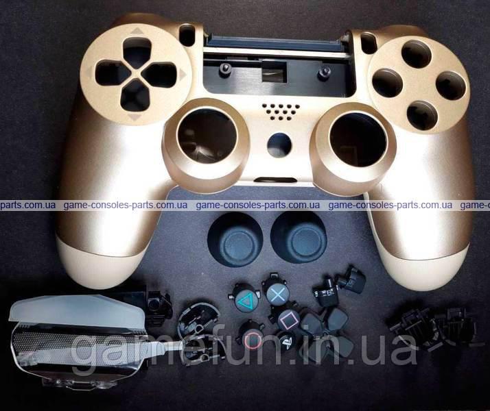 Корпус джойстика PS4 Dualshock 4 JDM-040 в сборе (Золотой) (Оригинал)
