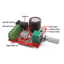 Аудио Усилитель 2х10w стерео на базе PAM8610 Класса D  DC-12v Hi-Fi