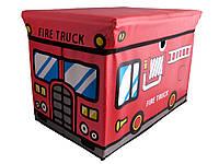 Коробка / ящик для детских игрушек Happy Bus красный