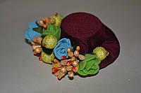 """Заколка ручной работы  """"Заколка-шляпка маленькая минНи миСс"""", фото 1"""