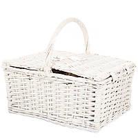 Корзина с посудой для пикника на Пасху (42*33*20 см) + сумка-холодильник