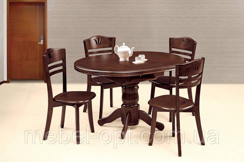 Стол круглый кухонный, WT03, шоколад.