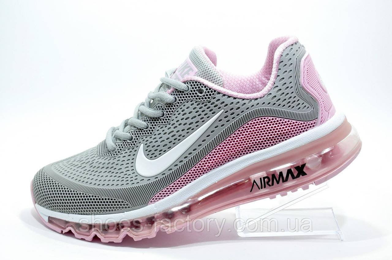 Кроссовки женские в стиле Nike Air Max More, Gray\White\Pink
