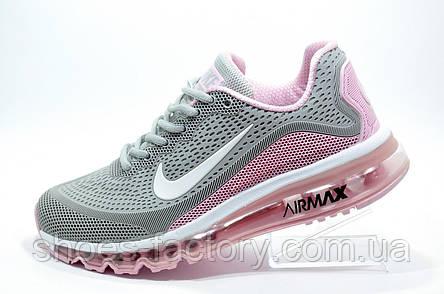 Кроссовки женские в стиле Nike Air Max More, Gray\White\Pink, фото 2