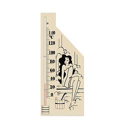 ТС ісп.5 Термометр для сауни, Дівчина 2 (корпус дерево)
