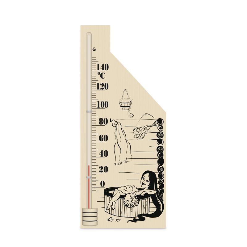 ТС ісп.5 Термометр для сауни, Дівчина 3 ( дерево)