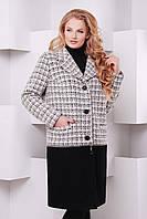 Женское демисезонное пальто-трансформер большого размера 58, 60, 62 размер