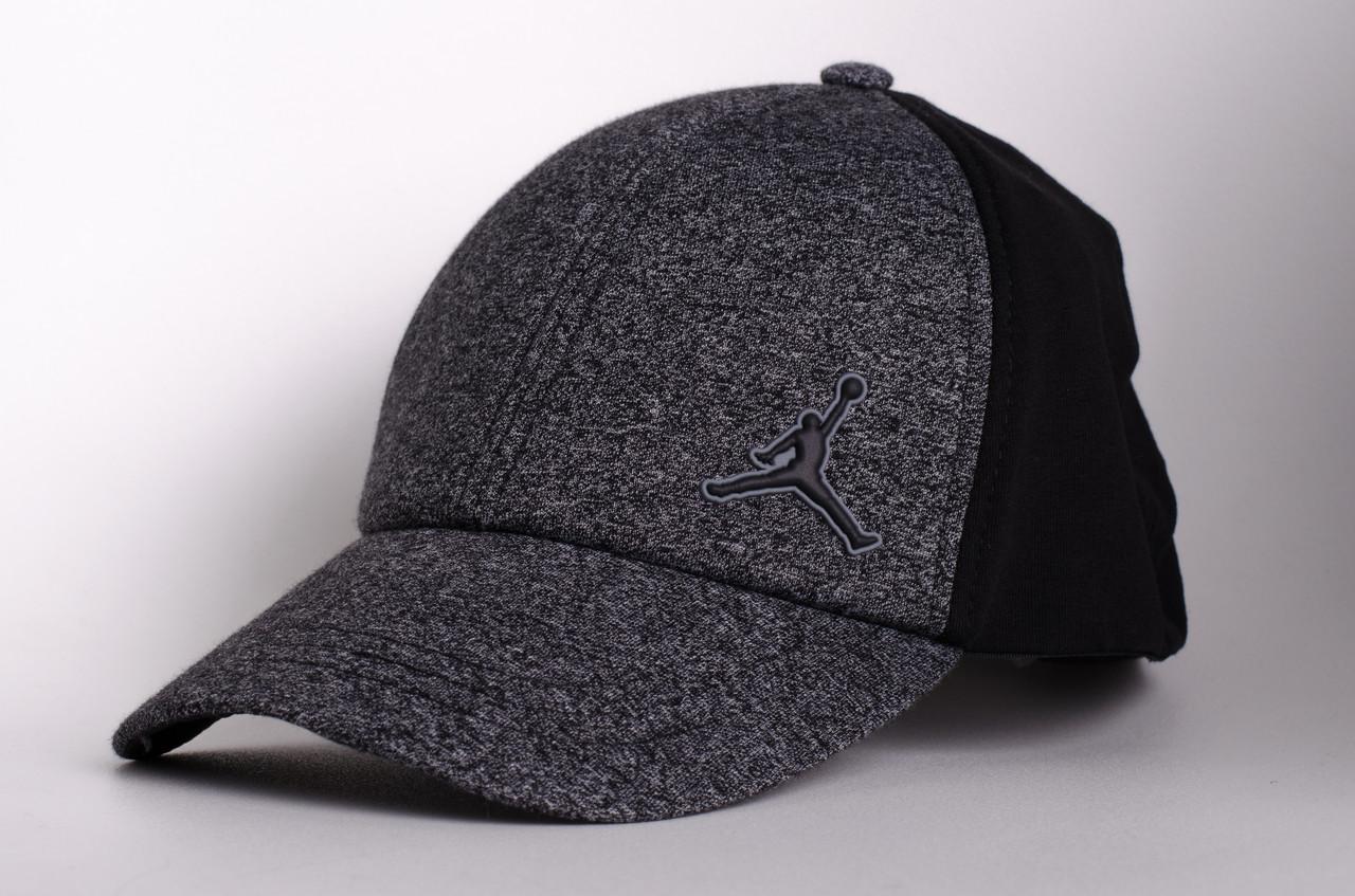Бейсболка/кепка Jordan, серая с черным, фото 1