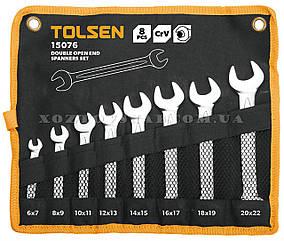Набор ключей рожковых в чехле 8 штук CrV «Tolsen»