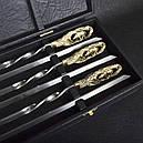 """Набор шампуров ручной работы """"Кабан"""", рукоять бронза (3х10мм, 60см), 6 шт. в кейсе, фото 4"""