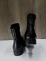 Полусапожки демисезонные черные на низком ходу Рассвет., фото 3