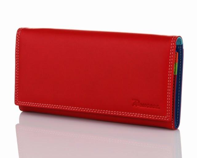 Кошелек кожаный женский красный Prensiti 122-6601