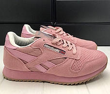 Женские спортивные кроссовки кеды Reebok Pink Classic Рибок класик пинк  розовые 38р реплика, фото 3 137f4dcb53d