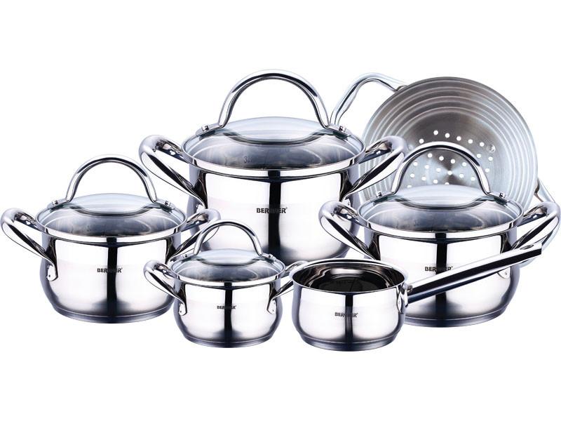 Набор посуды 10 пр Bergner BG 6529