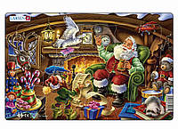 Пазл рамка-вкладыш Дед Мороз читает письма Lasren серия Миди (XC1-2)
