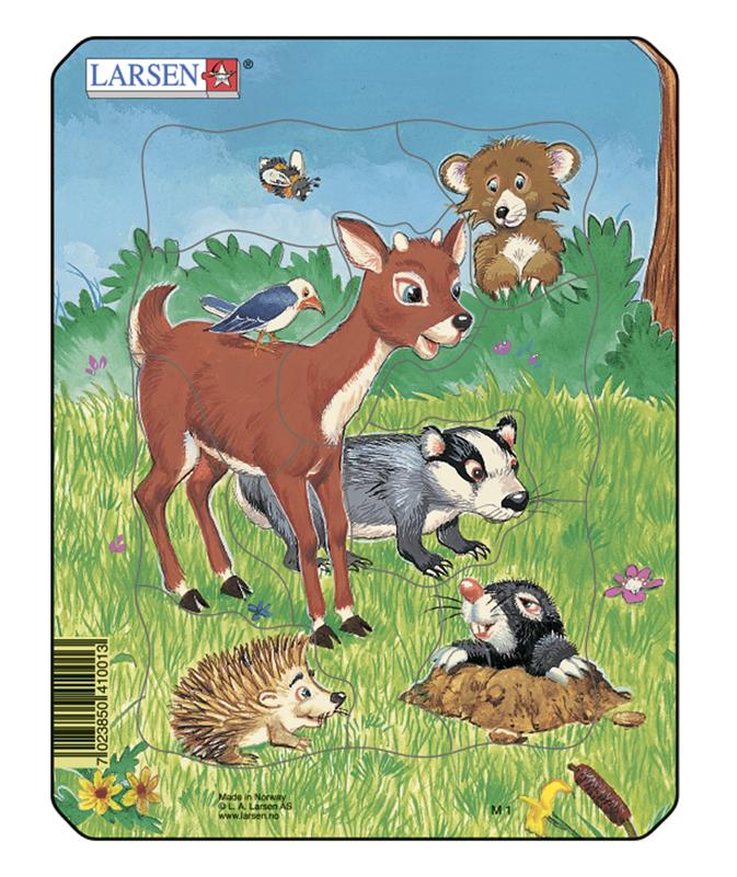 Пазл рамка-вкладыш Домашние животные №1 Lasren серия Мини (M1-1)