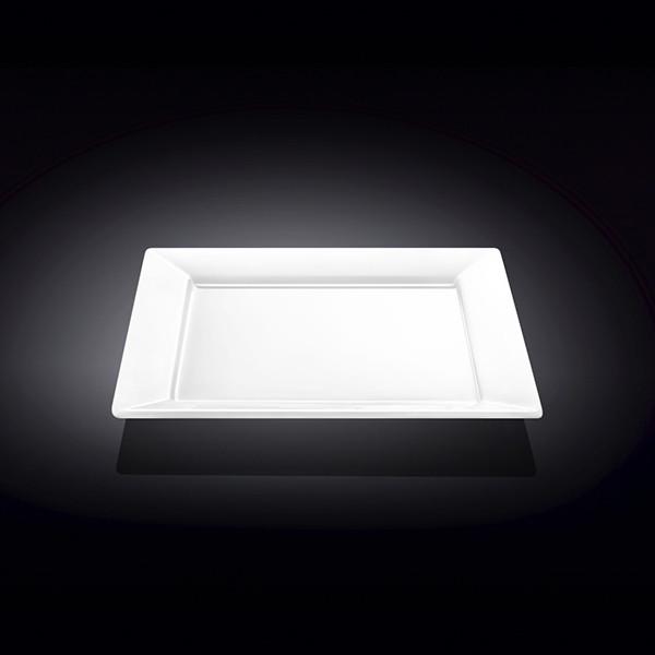 Тарелка фарфоровая подставная Wilmax WL-991223 квадратная  (25 см)