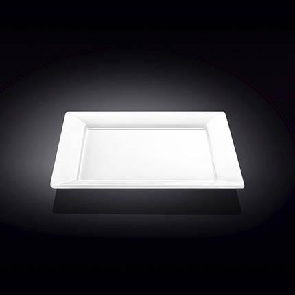Тарелка фарфоровая подставная Wilmax WL-991223 квадратная  (25 см), фото 2