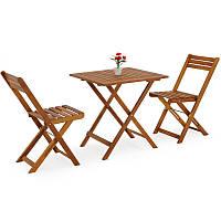 Набор садовой мебели Eila стол + 2 кресла дерево (эвкалипта) Польша, фото 1