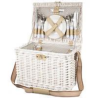 Удобная корзина для пикника на 6 персон (40*30*29 см)