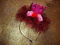 Шикарная корона на обруче для девочки